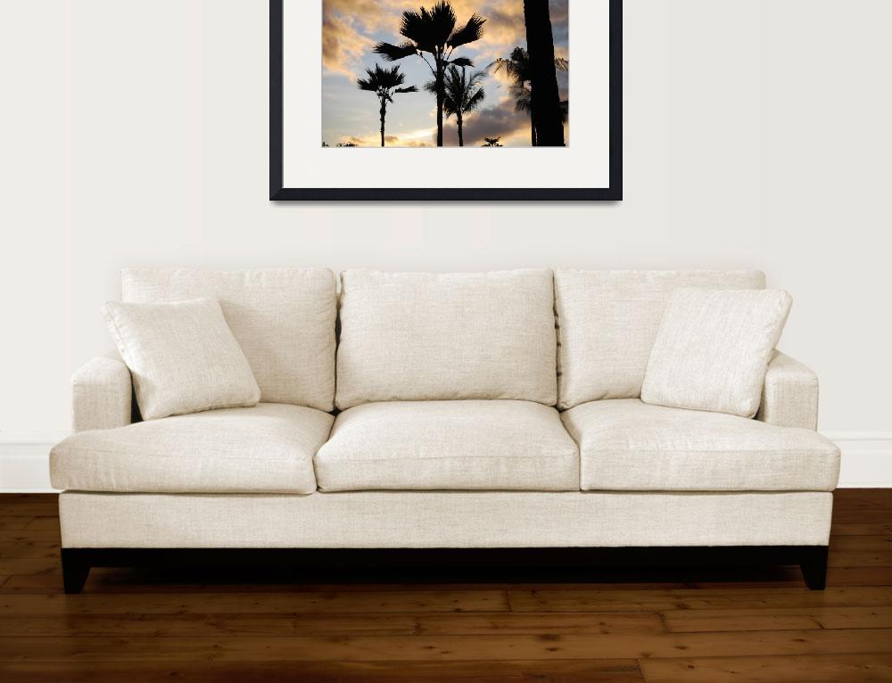 """""""Palm Trees in the sunset sky""""  (2010) by NicholeBurke"""
