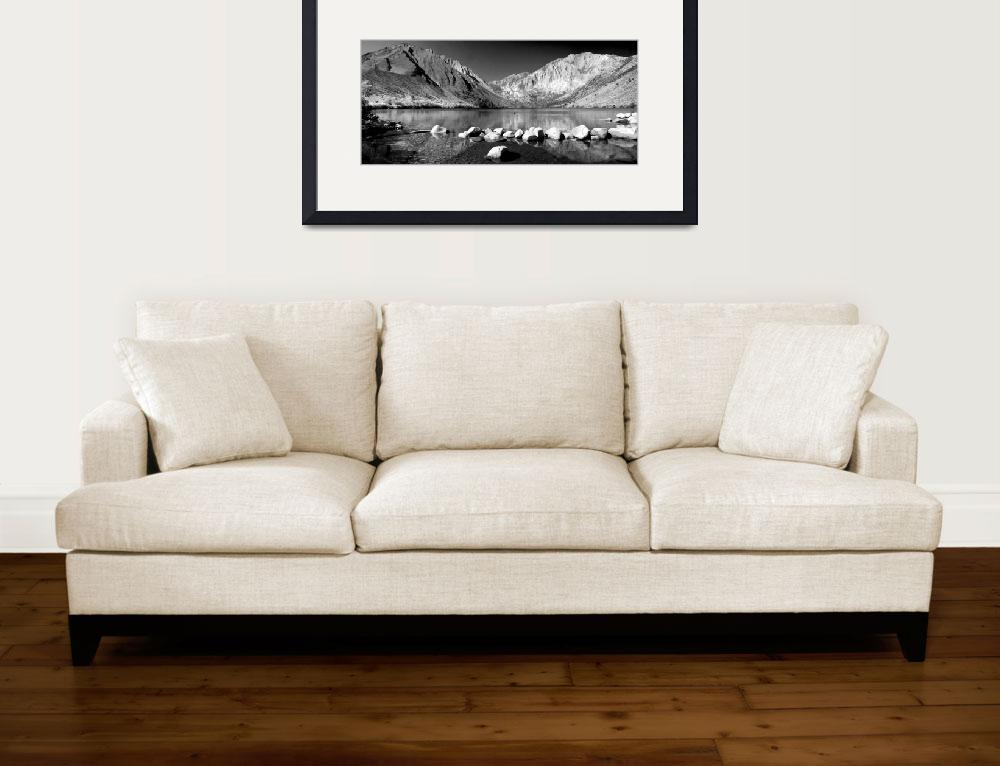 """""""Convict Panorama in Black and White""""  (2014) by LynnBauer"""