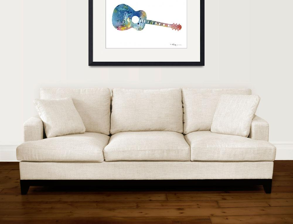 """Guitar -  Acoustic""  (2015) by k9artgallery"