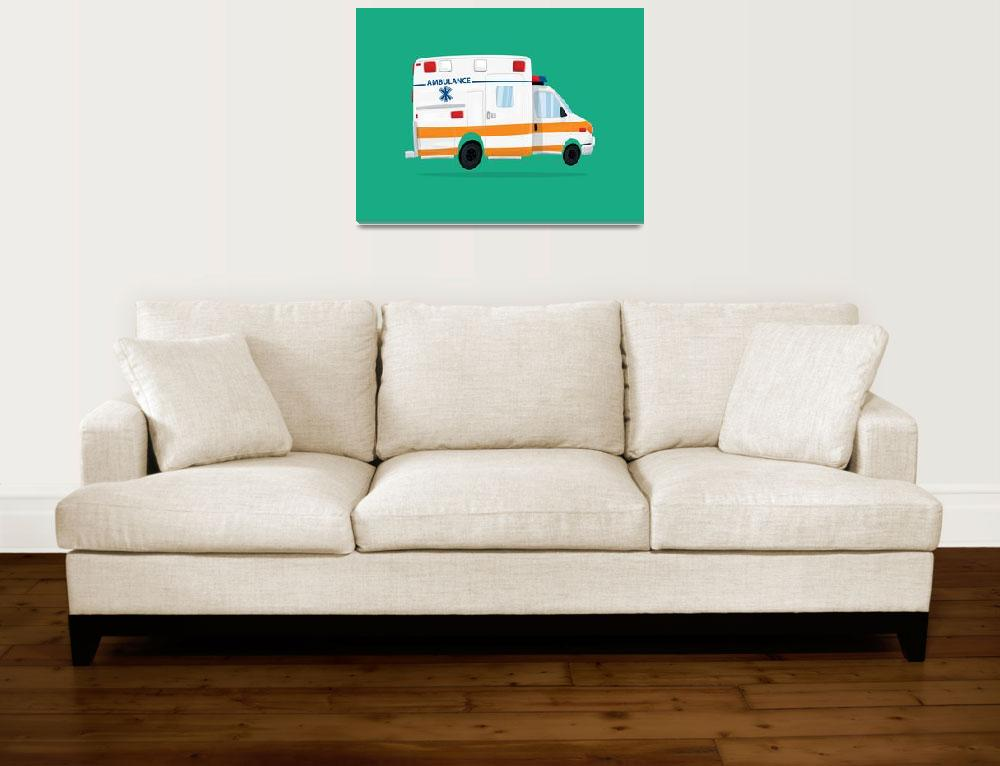 """Cute Ambulance&quot  (2017) by nathanpoland"