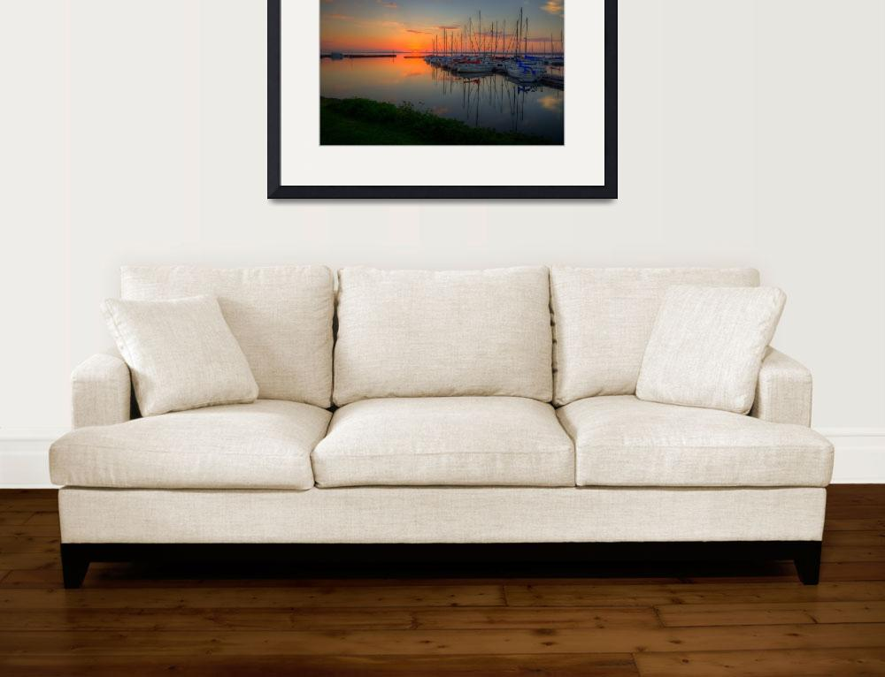 """""""Bayfield Wisconsin - Morning in the Harbor II&quot  (2013) by WaynePhotoGuy"""