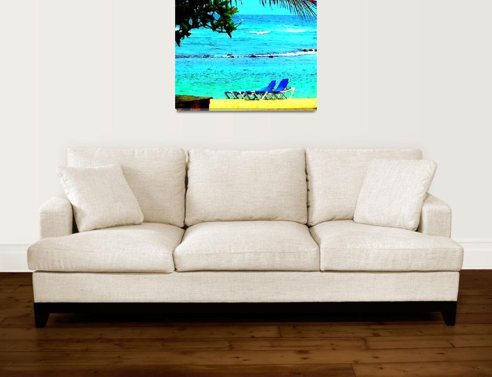 """""""Caribbean Sea Backyard&quot  (2010) by Caribbean-Digital-Art"""