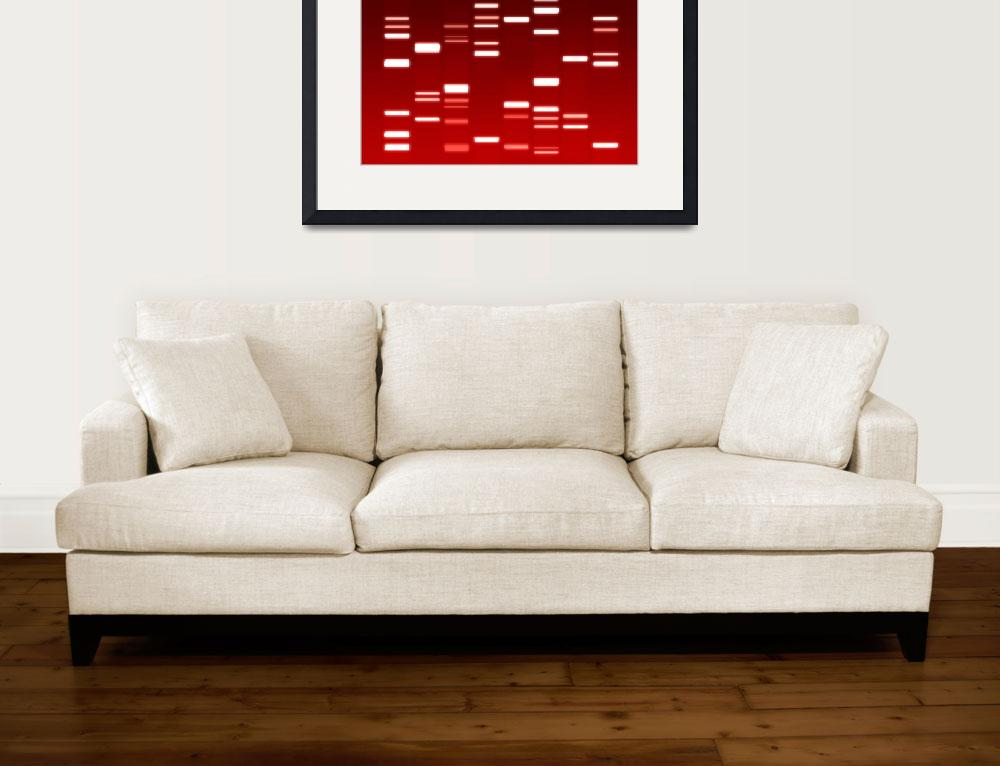 """DNA Art Red""  (2010) by ModernArtPrints"