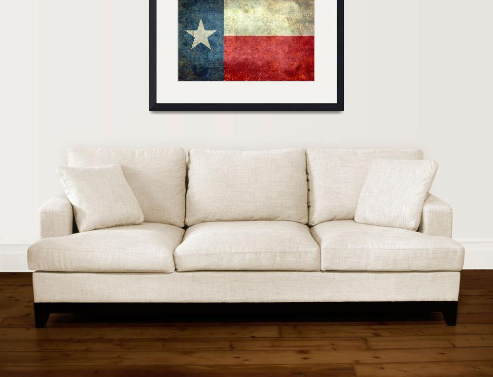 """The ""Lone Star Flag"" of Texas&quot  (2013) by BruceStanfieldArtist"