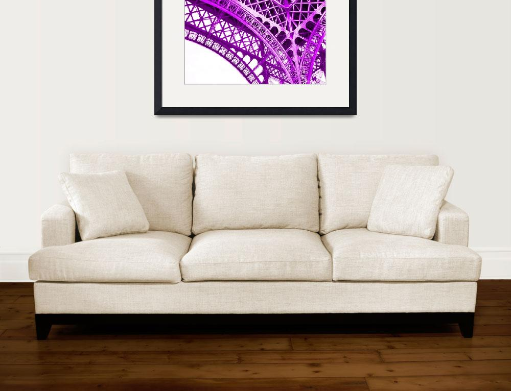 """""""Eiffel Tower Arch Support Detail Violet&quot  (2013) by TheNorthernTerritory"""
