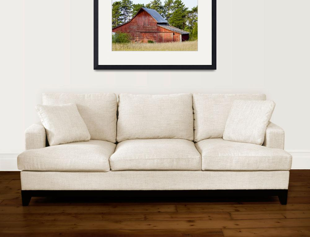 """""""Red Barn in Sunrise Light&quot  (2007) by dirtroad"""