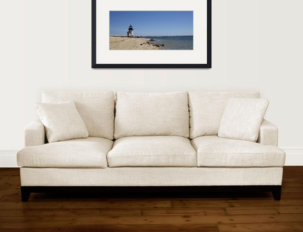 """""""Beach with a lighthouse in the background&quot  by Panoramic_Images"""