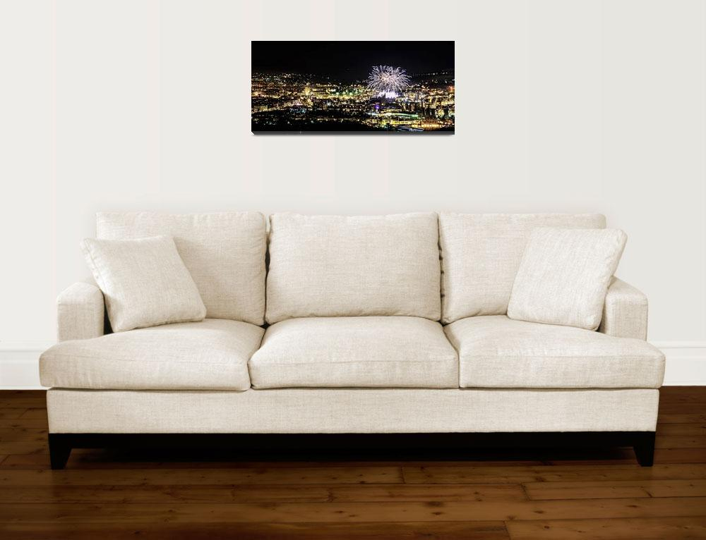 """""""Fireworks in the city""""  (2011) by Cristim"""