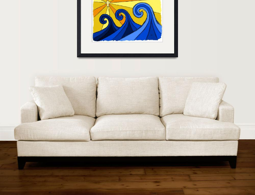 """""""Shining Waves""""  (2012) by surfprints"""