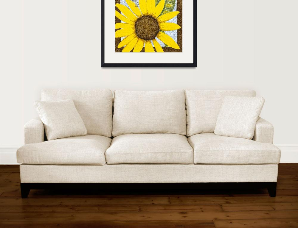 """Wee Sunflower 3""  (2009) by ArtbyJudyNewcomb"