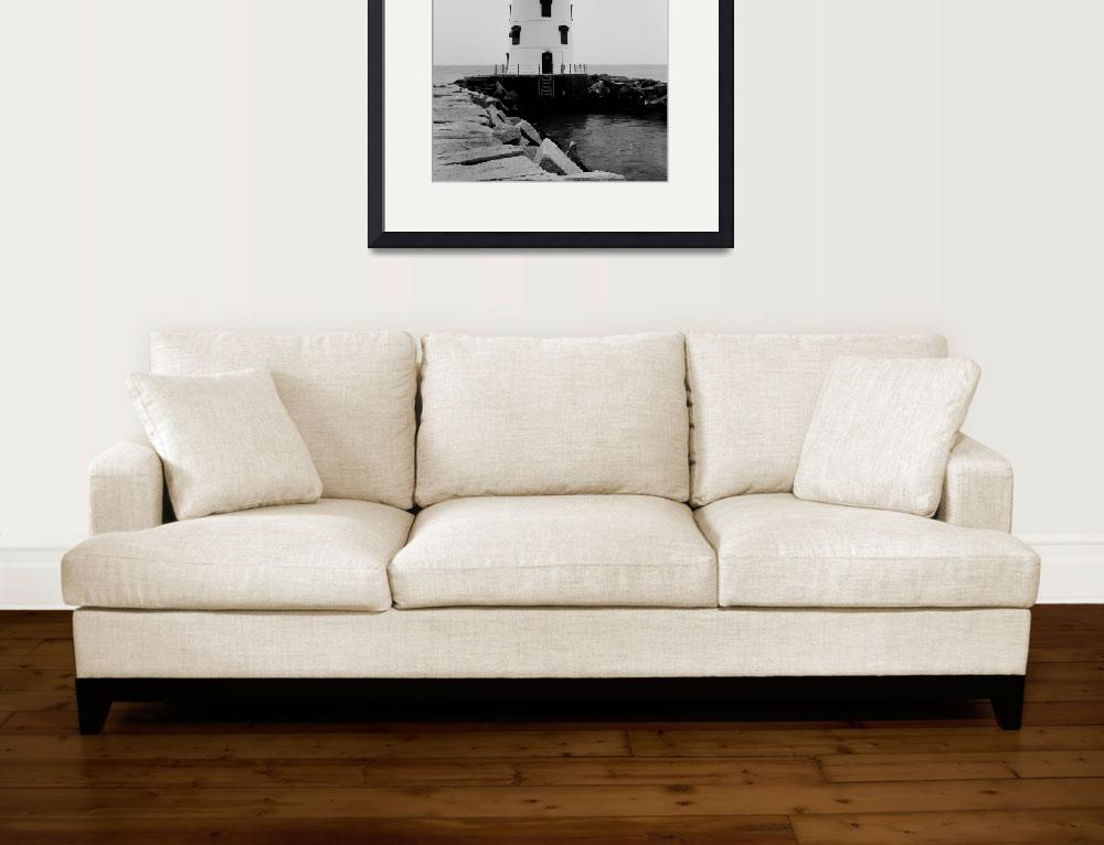"""""""Saybrook Breakwater Lighthouse #2, Connecticut&quot  by ArtLoversOnline"""