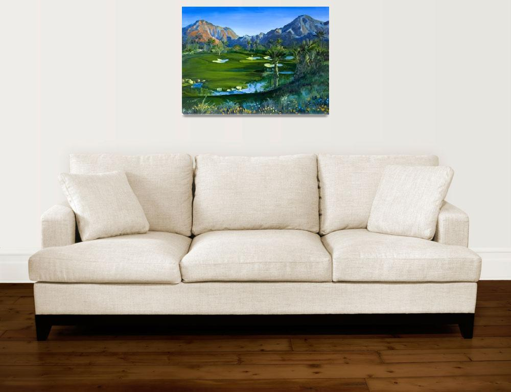 """""""Golf Indian Wells Celebrity Course #14 Print""""  (2007) by KeatingArt"""