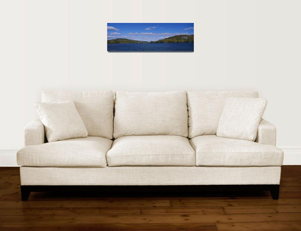 """""""Hill range on the coast of a pond&quot  by Panoramic_Images"""