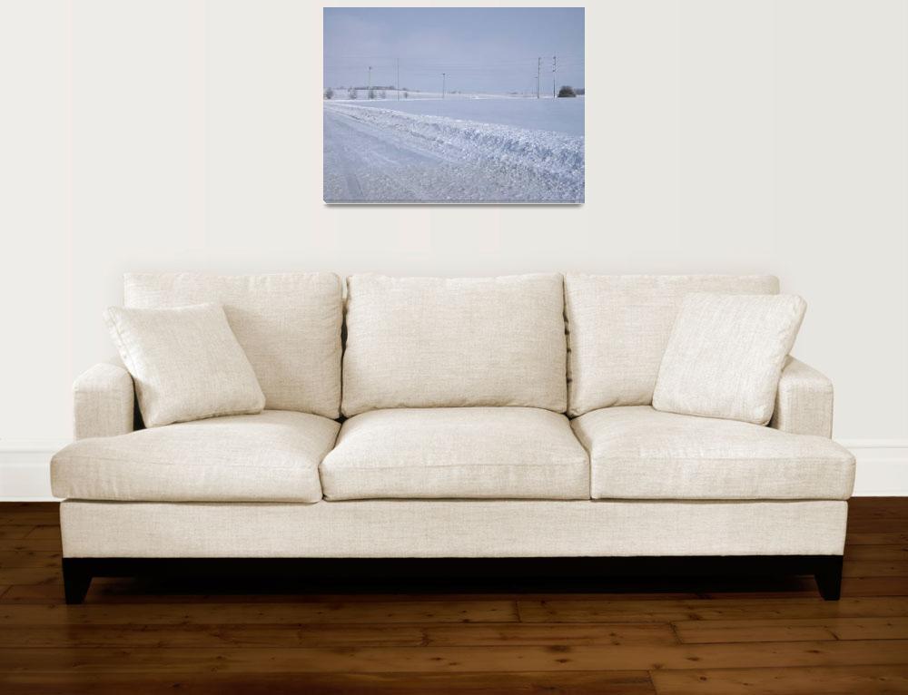 """White Winter Field of Snow""  (2008) by pinkpastel"