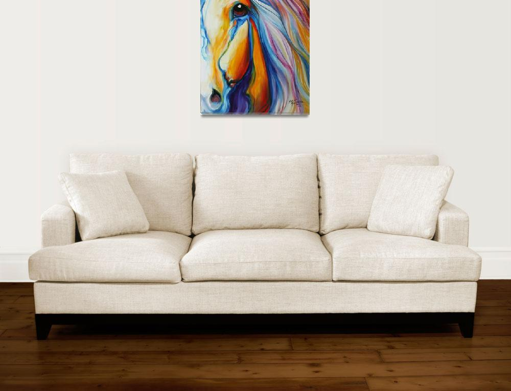 """""""MAJESTIC HORSE&quot  (2011) by MBaldwinFineArt2006"""