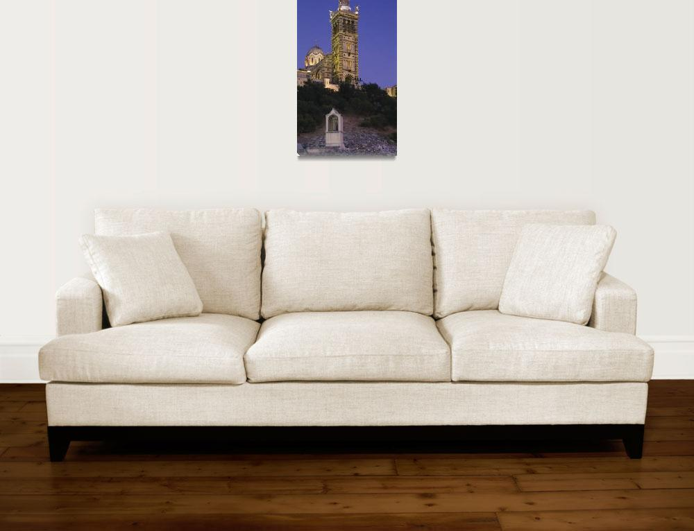 """Low angle view of a tower of a church&quot  by Panoramic_Images"