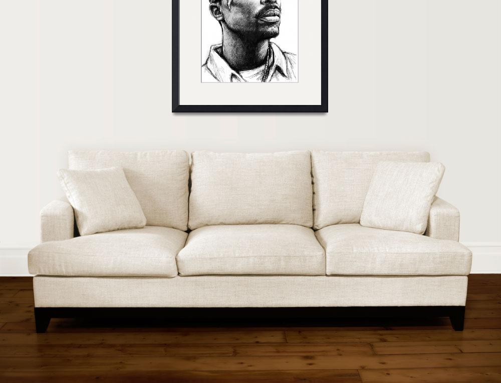 """""""2pac - tupac shakur drawing sketch art poster&quot  (2013) by visualharbour"""