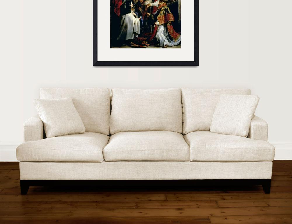 """""""Communion of St. Teresa of Avila&quot  by fineartmasters"""