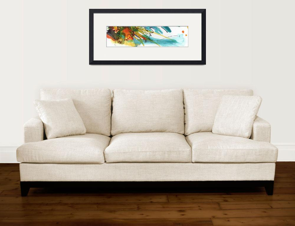 """""""Abstract Organic Landscape Panorama&quot  (2016) by GinetteCallaway"""