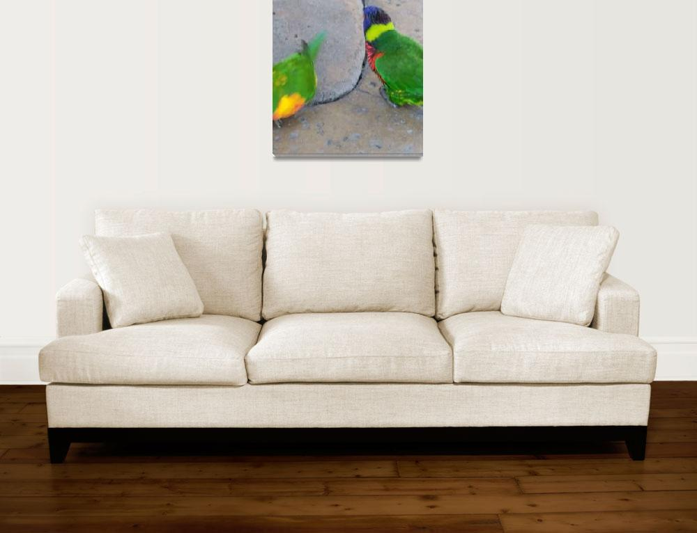 """""""20131017-20131017_165847 Two Birds on Crack&quot  (2012) by art-bymark"""