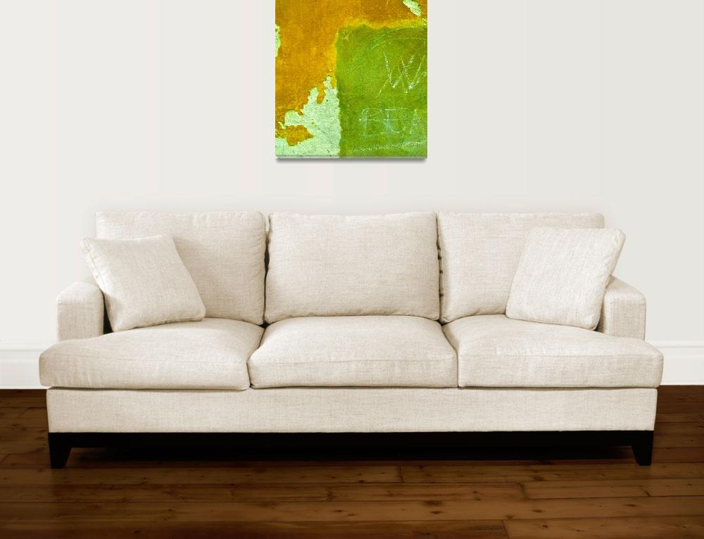 """""""""""Ochre and Green Venice Abstract""""""""  (2009) by AlexandraZloto"""