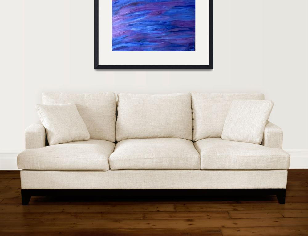 """""""Blue & Purple Waves 16x20 (2)&quot  (2018) by TheresasVisualart"""