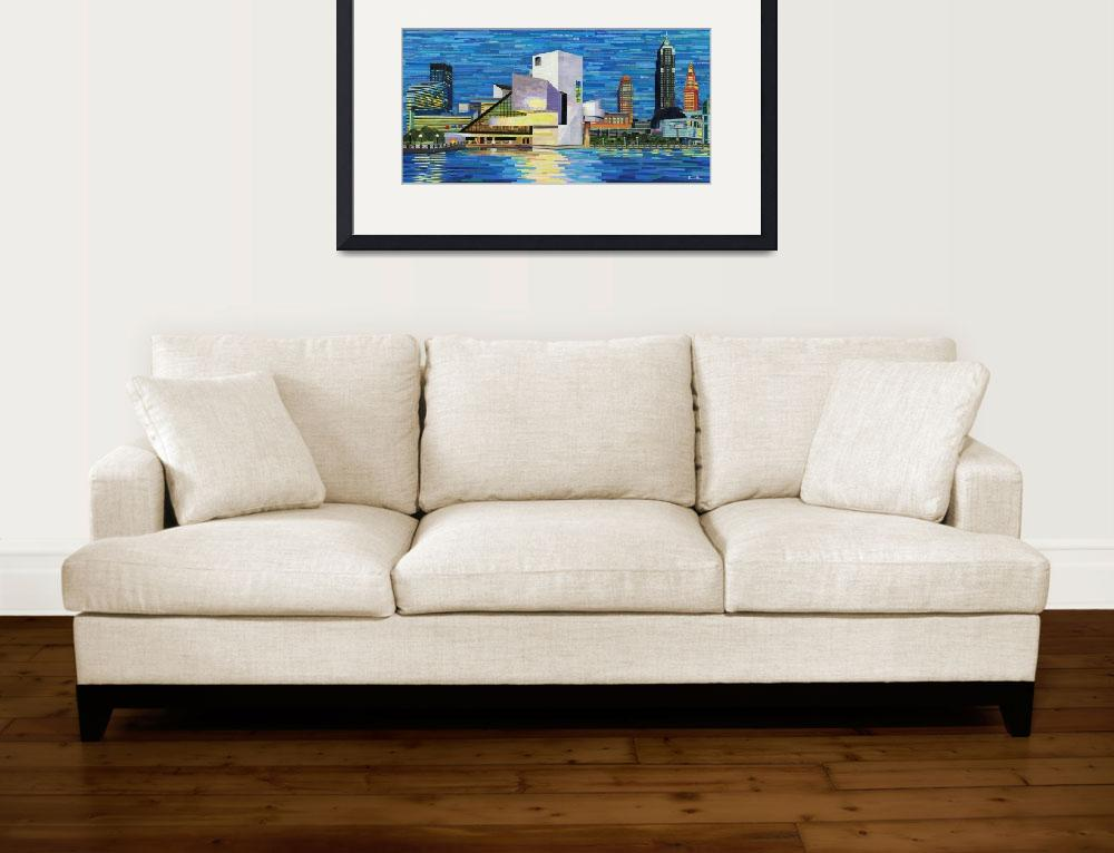 """Downtown Cleveland Skyline&quot  (2014) by ShawnaRowe"