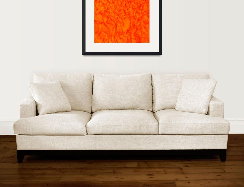 """""""Orange Glacial Silt Abstract&quot  (2016) by AdventureImages"""