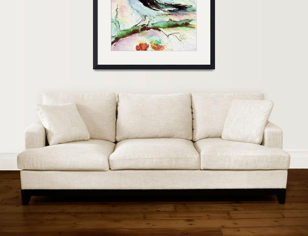 """""""Pale Birds Square Art Vintage Colors&quot  (2015) by GinetteCallaway"""