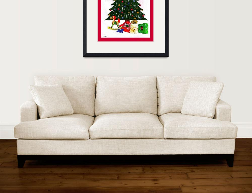 """""""Surreal Christmas Tree Print&quot  (2009) by trevortrent"""