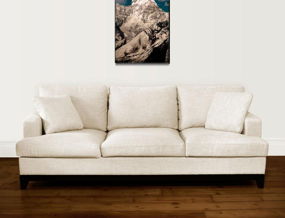 """Ama Dablam, Khumbu Himalaya, Nepal, noframe""  (2006) by ExposedPlanet"