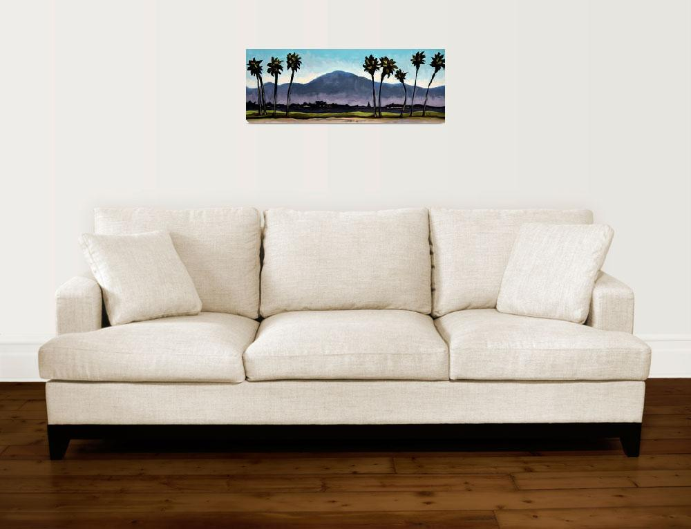 """""""The Panoramic Palm Trees&quot  (2011) by ElizaArt"""