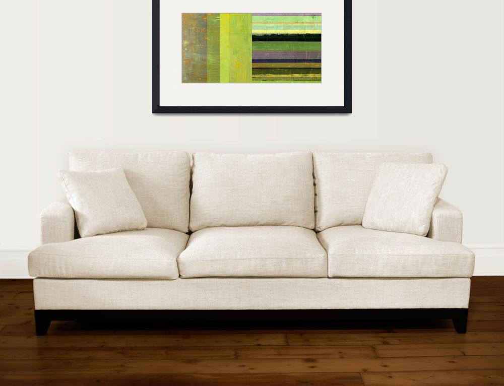 """""""Rustic Green Flag with Stripes&quot  (2017) by Michelle1991"""
