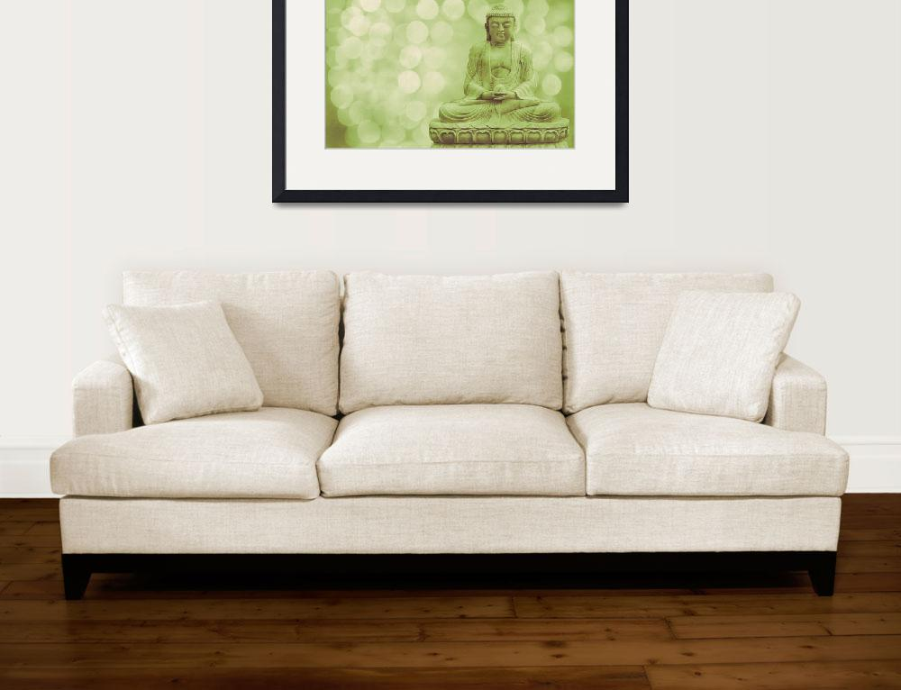 """""""Buddha - the light (green)&quot  (2012) by hannes61"""