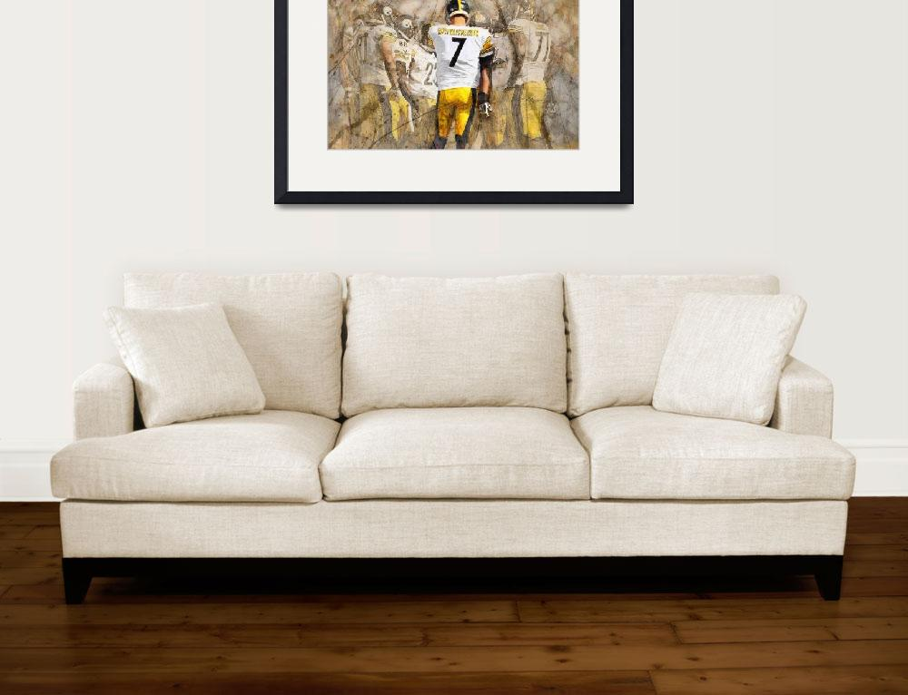 """Steelers Huddle Up&quot  (2013) by Big88artworks"