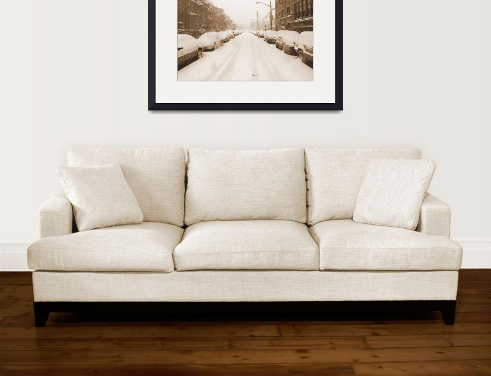 """Bronx Street in the Winter&quot  by CraigWilson"