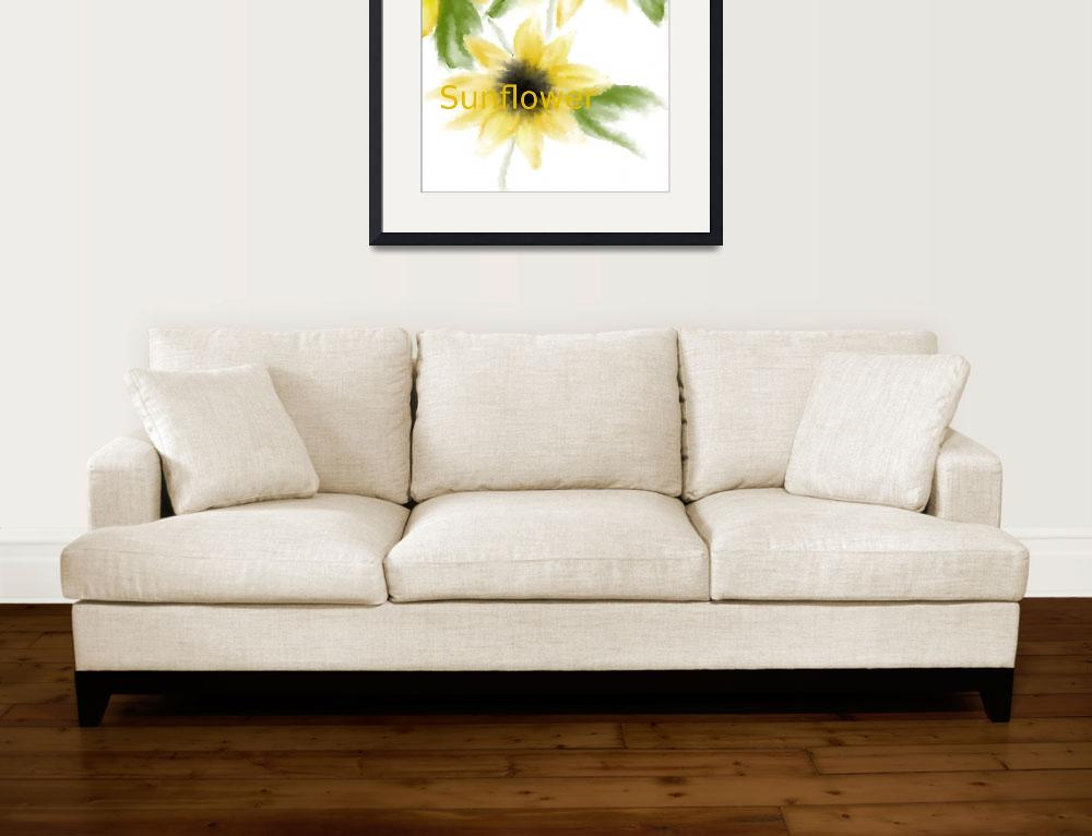 """Watercolor sunflowers&quot  (2012) by LaVon"