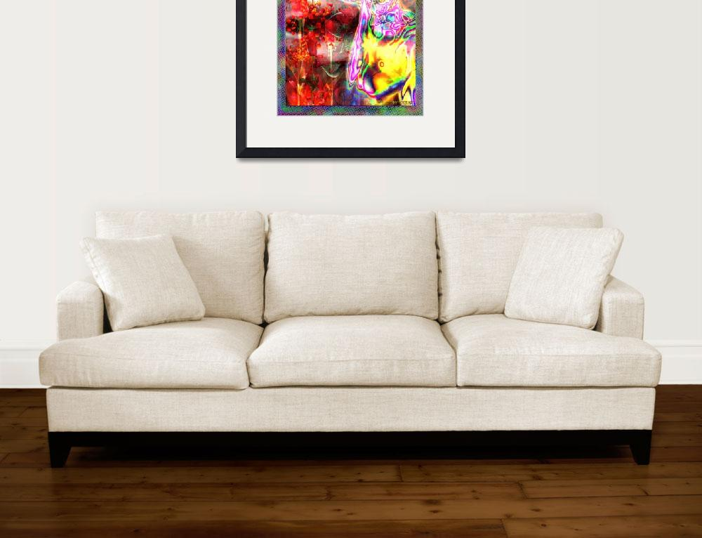 """""""Neon Selfie Over Roses""""  (2015) by surrealpete"""
