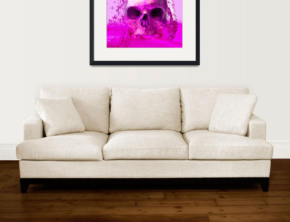 """PURPLE SKULL IN WATER&quot  (2014) by Icarusismart"