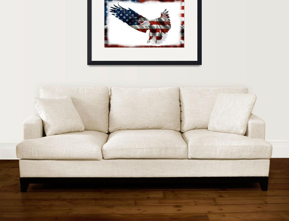 """""""americanflageagle&quot  (2013) by sharriger"""