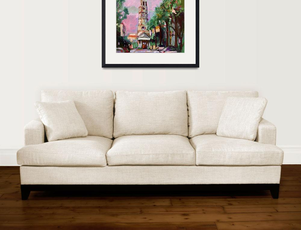 """""""Charleston Pink Sky from Oil Painting by Ginette&quot  (2010) by GinetteCallaway"""