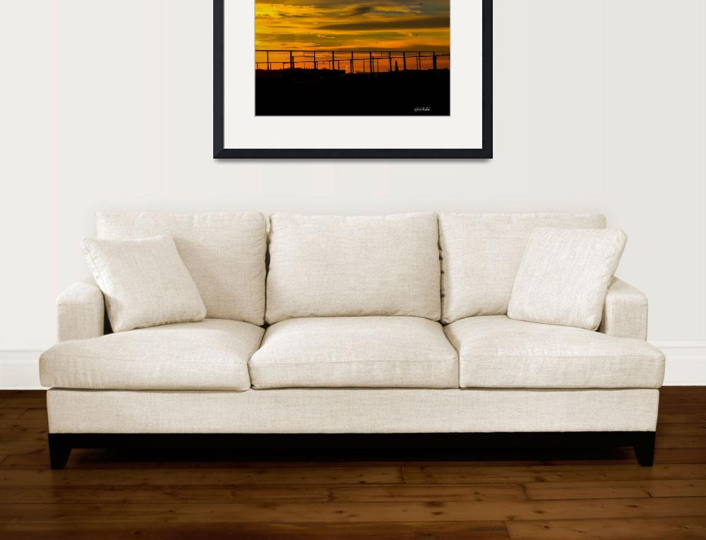 """""""Brooklyn Sunset&quot  (2015) by RickWoehrle"""