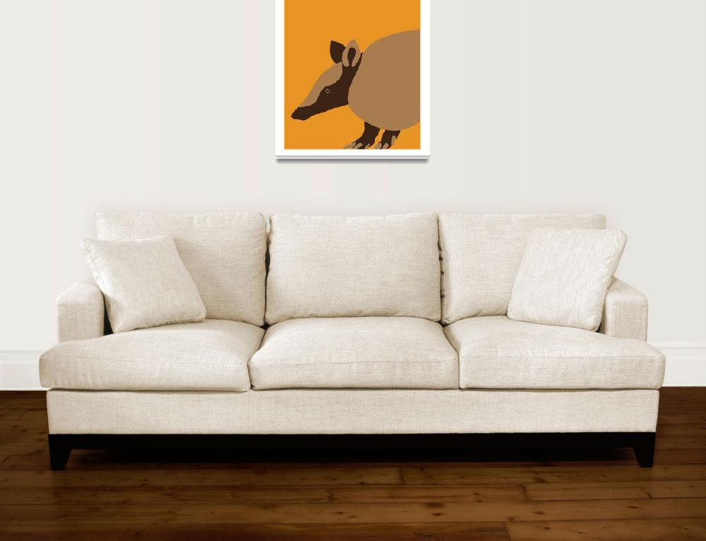 """""""State Posters - Texas State Small Mammal: Nine-ban""""  by artlicensing"""