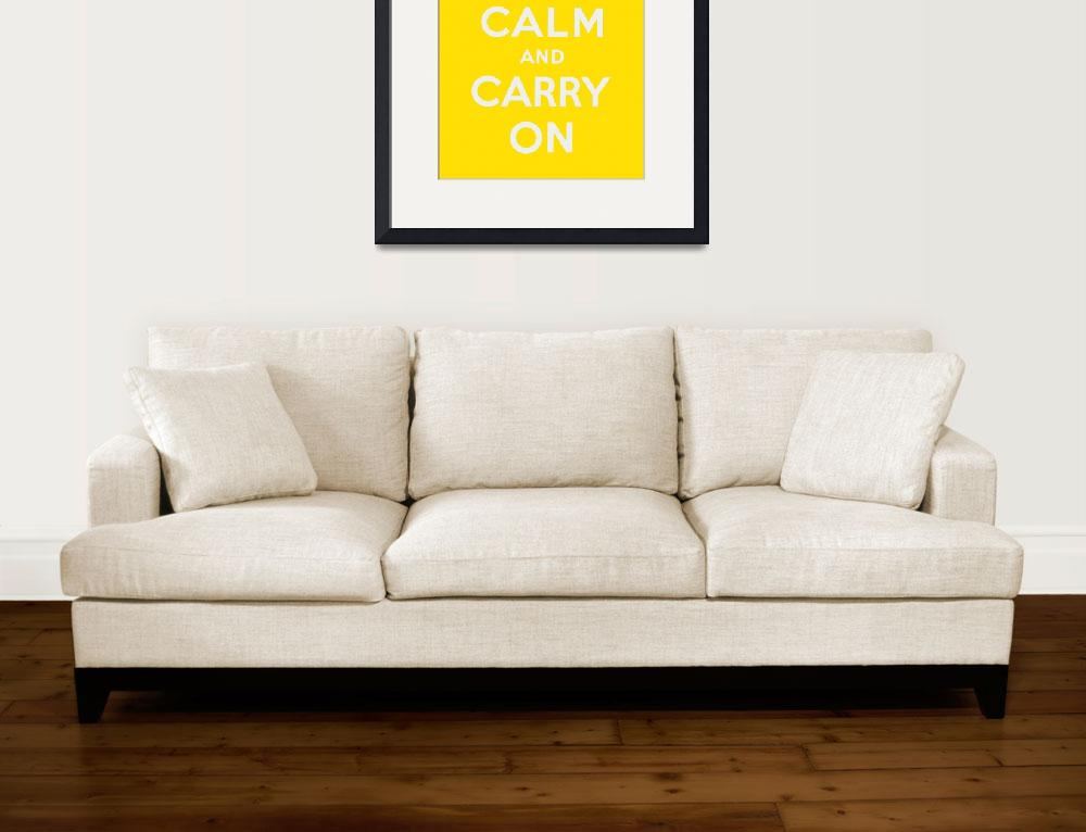 """Yellow Keep Calm And Carry On 1&quot  by oldies"