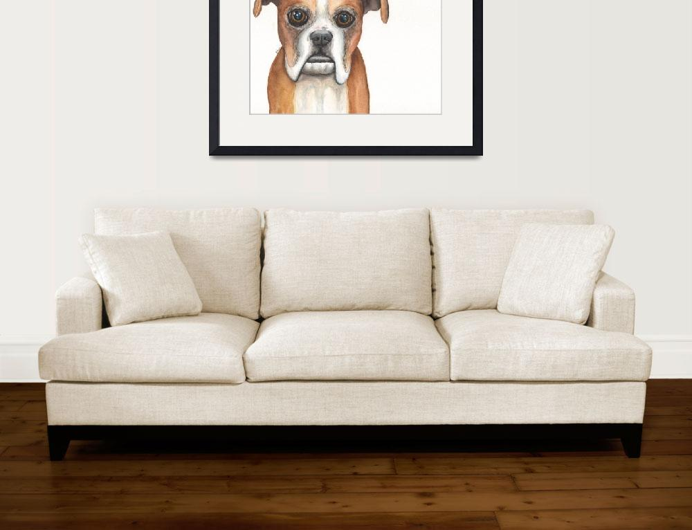 """""""Aimie the Resilient Roller-dog Boxer&quot  (2014) by Designomel"""