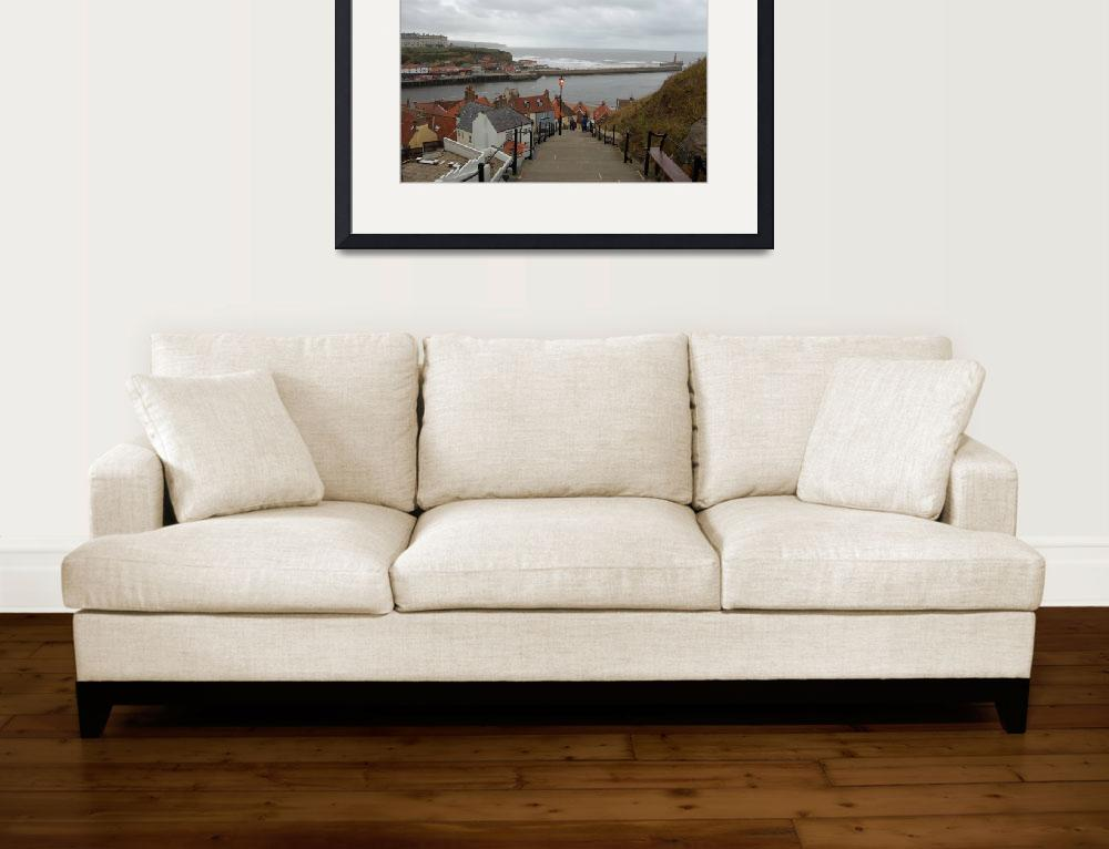 """whitby harbour yorkshire&quot  by paradise"