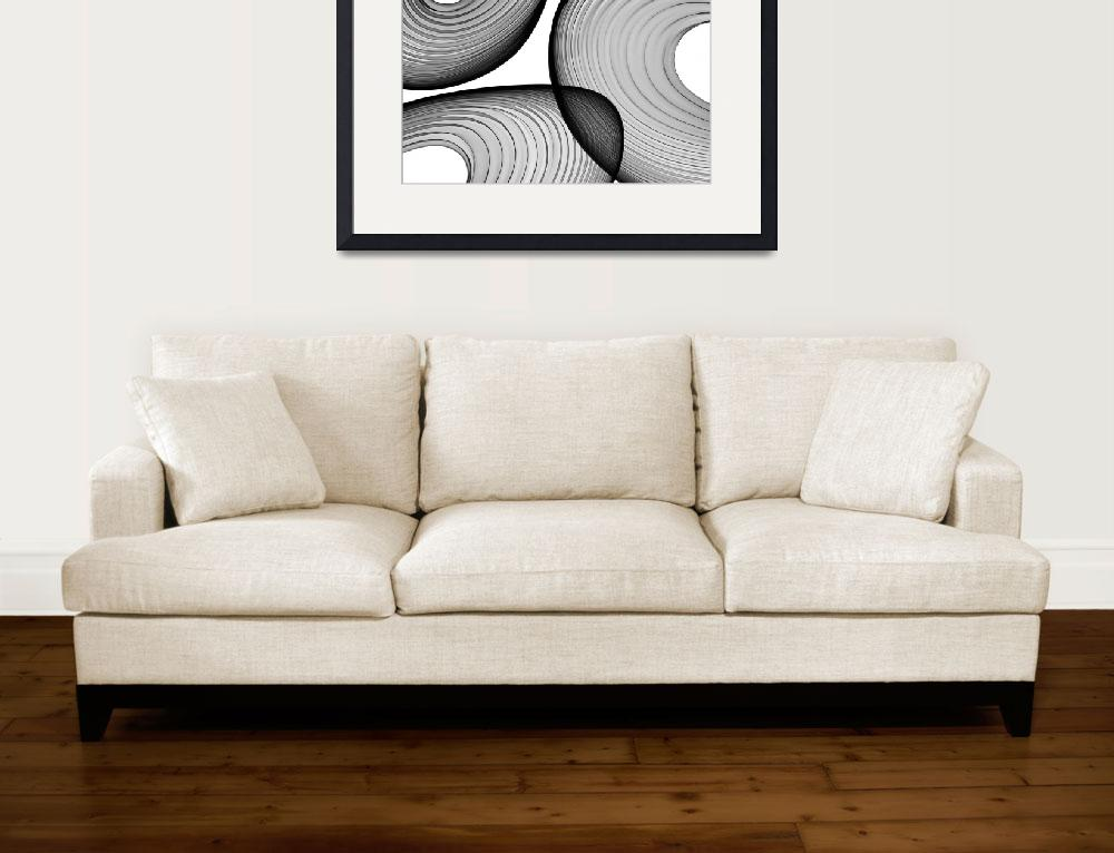"""""""ORL-6044 Abstract Black and White 21-44-40&quot  by Aneri"""