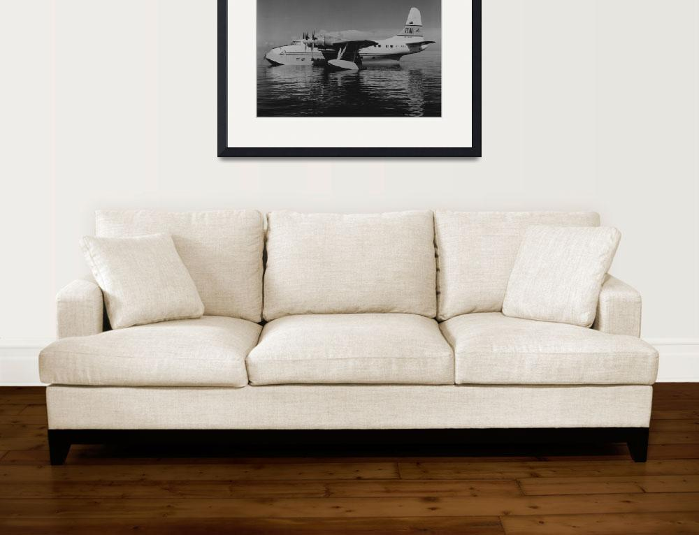 """""""Solent Flying Boat""""  by RetroImagesArchive"""