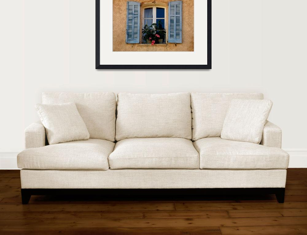 """""""Window with Blue Shutters&quot  (2010) by lainiewrightson"""