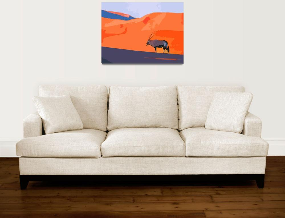 """""""African Oryx""""  (2010) by whitewallgallery"""